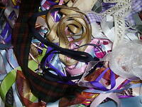 Bag of Ribbon off cuts 25 mt Assorted colours & sizes- FREE POSTAGE
