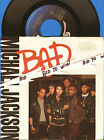 MICHAEL JACKSON BAD 45 RPM Record and Picture Sleeve 1987 I Can't Help It COOL