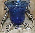 Partylite Blue Soliloquy Candle Holder.. retired