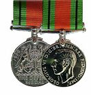 Official 1939 - 1945 Miniature WW2 Defence Medal and Ribbon ( High Quality