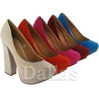LADIES HIGH HEELS SHOES WOMENS SEXY PLATFORM OFFICE WORK PARTY COURT SHOES SIZE