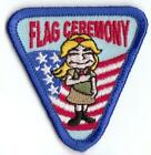 GIRL FLAG CEREMONY triangle Fun Patches Crests Badges GUIDES SCOUTS
