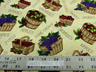 Troy Home Grown Granola Girl Debbie Field Apples Grape Berries COTTON Fabric BTY