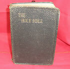 NICE COLLECTIBLE THE HOLY BIBLE DOUAY VERSION, GILT EDGED PAGES, LEATHER BOUND
