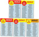 2012 Topps Heritage Checklist set of 5
