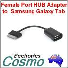 USB Female Port Adapter Dongle to Samsung Galaxy Tab 10.1/8.9 P7510/7500 7300 A1