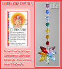 Chakra Crystal Comet Suncatcher With Coloured Beads