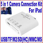 5-IN-1 USB Camera Connection+SD TF M2 MMC MS Card Reader Adapter Kit 4 iPad1 &2