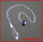 Crystal Icicle & Natural Gemstone Pendulum Assorted Gems Available
