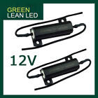 12V A PAIR OF LOAD RESISTORS FAST FLASHING BLINKERS APPEAR LED REPLACING GLOBES