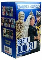 Horrible Histories Collection 10 Children Beastly Books Box Set Easy History