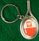 Poland Key Chain Red and White Polish Polska  KeyChain tennis