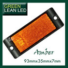Amber Reflex Reflector with Mounting Bracket 93x35x7mm bus truck trailer ADR