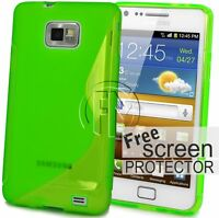 GREEN WAVE S LINE GRIP GEL CASE SILICON COVER FOR SAMSUNG GALAXY S2 I9100