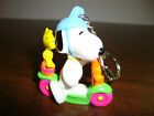 Snoopy---Easter Scooter Figurine---Keychain---2 1/2""