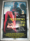 NOTHING TO HIDE / ORIGINAL ONE-SHEET MOVIE POSTER (ERICA BOYER)