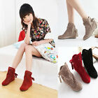 Summer Lady's Sexy Bowknot Flat Heels Ankle Stylish Fashion Sandals Boots Shoes
