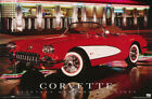 POSTER : TRANSPORTATION: 1960 CORVETTE - RED - FREE SHIPPING ! #2626 RBW3 Y