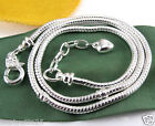 1X Silver Plated Lobster Clasp Heart Charms Snake Chain Fit European Bead kj1609