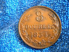 GUERNSEY: RARE GRADE 8 DOUBLES 1834 EXTREMELY FINE++++ TO ABOUT UNCIRCULATED!!