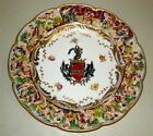 """10"""" Vintage Italian hndpntd Cherub Encrusted Scalloped Capodimonte Charger Plate"""