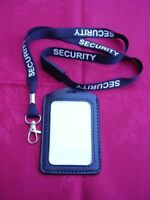 SECURITY/SIA/CPO - Black/White Safety Neck Lanyard & ID Pass Card/Badge Holder P
