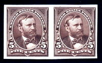 US 270P4 5c Grant Plate Proof on Stamp Paper SCV $250 (-01)