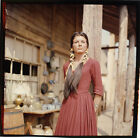 KATHARINE ROSS RARE PHOTO IN INDIAN DRESS 1960'S WESTERN LARGE TRANSPARENCY SLID