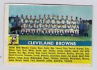 1956 topps 45 Cleveland Browns team card (trimmed)  Vg