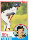 2012 Topps Archives Reprint Gold Stamp Wade Boggs Red Sox 498