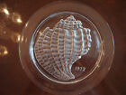 1972 LALIQUE COQUILLAGE SHELL CRYSTAL PLATE WITH NO BOX - SIGNED LALIQUE FRANCE