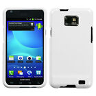 AT&T SAMSUNG GALAXY S2 i777 i9100 SNAP ON HARD COVER SOLID WHITE