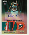2010 TOPPS CHROME EDMOND GATES AUTO PATCH RC 6/25 MIAMI DOLPHINS
