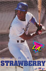 POSTER: MLB BASEBALL : DARRYL STRAWBERRY - LA DODGERS - FREE SHIPPING ! RW15 A