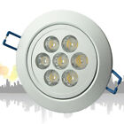 10X 7W LED Ceiling Down Light Recessed Fixture Cool White Cabinet Light 85-265V