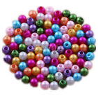 1200 pcs 4mm mixed color acrylic pearls beads charms spacer findings Free ship
