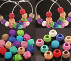 20pcs Mixed Color Basketball Mesh Round/Cube Loose Spacer Beads Fit Earrings
