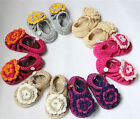 Cute Handmade Crochet Flower Sandals Shoes Newborn Baby Photograph New 6 Color