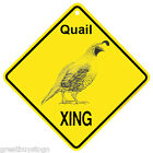 Quail Xing caution Crossing Sign