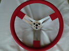 speedway racing steering wheel 15 inch aluminium dished red with matching hub