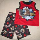 ICE AGE *100% Nutty* Sleeveless 2pc Muscle Shirt Pajamas Pjs sz 6/7