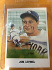 Lou Gehrig Silk Cachets Covers Postcards Lithos New York Yankees