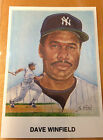Dave Winfield Silk Cachets Covers Postcards Lithos New York Yankees