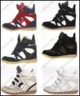 Fashion Women Velcro Strap High-TOP Sneakers Shoes/Ladys Ankle Wedge Boots 5-9.5