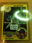 1991 Starting Line Up FM Sheet Card Don Mattingly New York Yankees