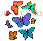 butterfly set stained glass type suncatcher window sticker leadlight sunshiners