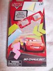 CARS 3D CHALK SET INCLUDES ONE 3D PR GLASSES 2 STENCILS AND 10 SIDEWALK CHALKS