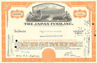 The Japan Fund stock certificate share scripophily