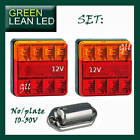 Trailer Tail Lights LED Lamp Submersible Boat 12/24 Number Plate Light 101BAR