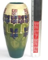 1st Quality Moorcroft 32cm Very Large Vase 15cm wide Violet Design Near Mint